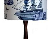 Ships, Sea & Swallows Lampshade/Nautical Drum Lampshade