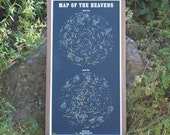 Map of the Heavens 3 COLOR Silkscreen Print