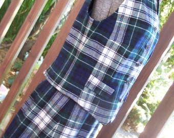 Pendleton Skirt Vest Suit Plaid 1960-1970 Size 14 VINTAGE by Plantdreaming