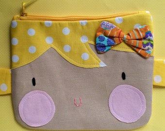 Kawaii Pencil Pouch, Pencil Case, Cute Kids Bags, School Supplies, Teens, Women, Organize, ready to ship