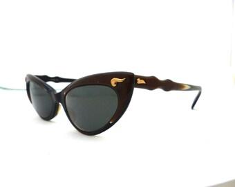 OHH la la , Rare 1950s Cateye Eyeglasses VIENNALINE / AUSTRIA / with case