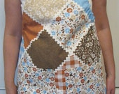 Women's Apron-Vintage Brown Patchwork