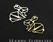 Exclusive -20% off 24K Golden / 925 Silver Rabbit Charm / Pendant, Fit For Necklace, Earring, Brooch (GD073/SD073)