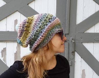 Slouchy Hat, CHEMO Gift Hat, Slouchy Beret Hat, CHEMO Hat, Travel Gift Hat, Slouchy all Season Hat, Beanie Beret Hat, Bohemian Hat, Boho Hat