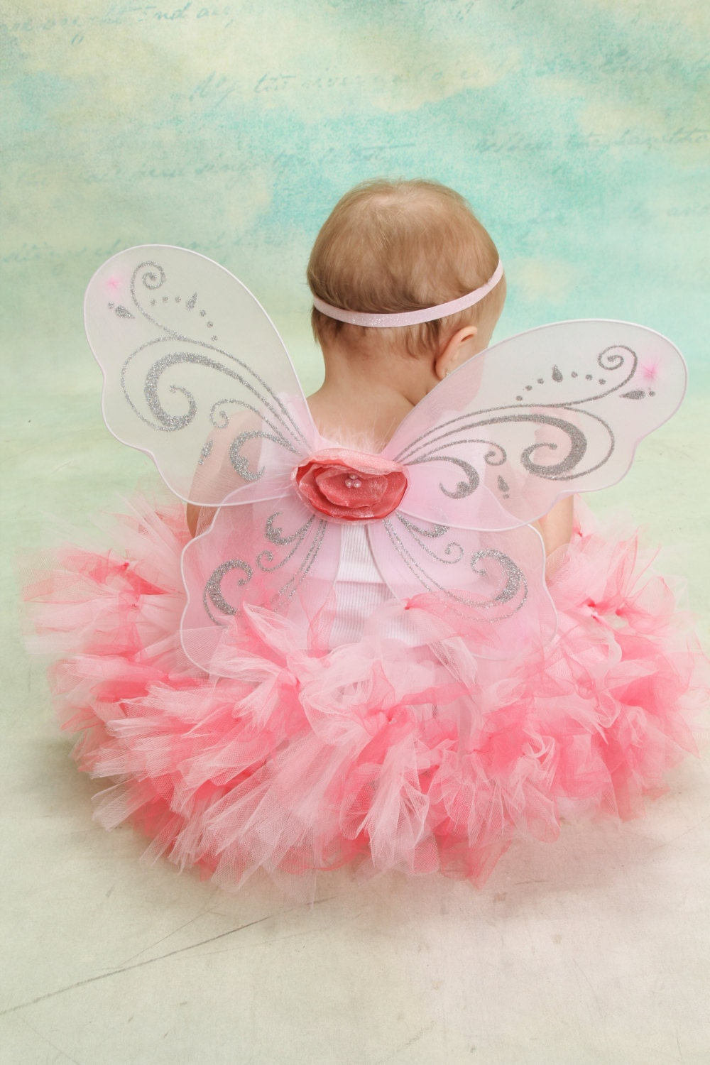 Coral and Pink Fairy Dress Tutu for Baby Girls by