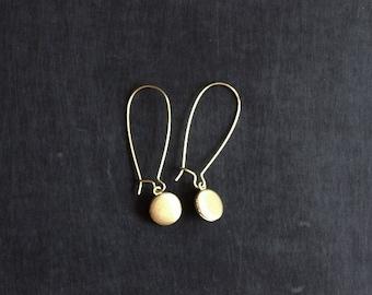 Locket  Earrings / Tiny Locket / Vintage Locket / Brass Locket / Locket Jewelry