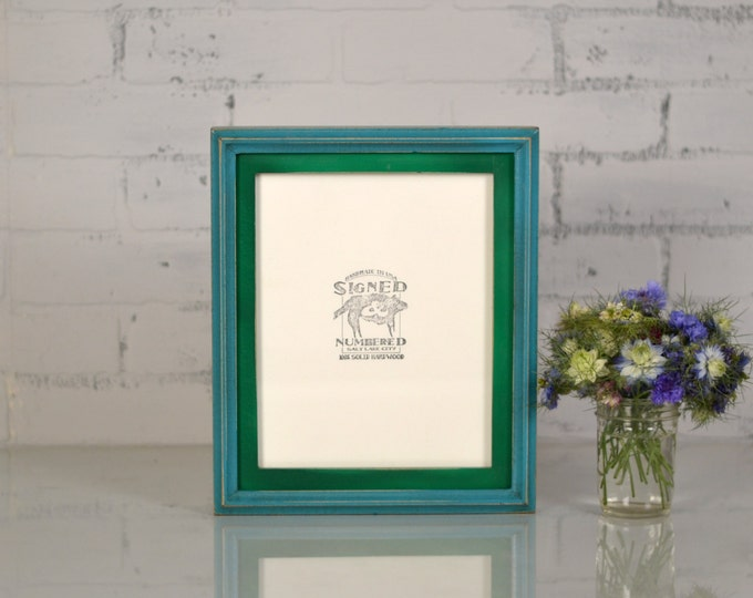 "8x10"" Picture Frame in 1x1 Double Cove Build Up Style and VINTAGE Finish Color Combination of YOUR CHOICE - 8x10 Photo Frames Handmade"