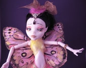 Pink Fairy Monster High Repaint Elf and Dragon OOAK Art Doll and T-Rex Companion