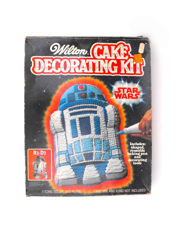 Wilton Cake Decorating Kit 2 : 1983 Star Wars R2D2 Cake Decorating Kit Wilton Baking Pan