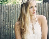 Boho wedding wreath, flower crown, rustic woodland wreath, wedding headband, bridal crown, wedding crown, boho wedding crown