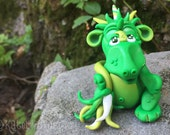 Polymer Clay Dragon 'Evie' - Limited Edition Collectible