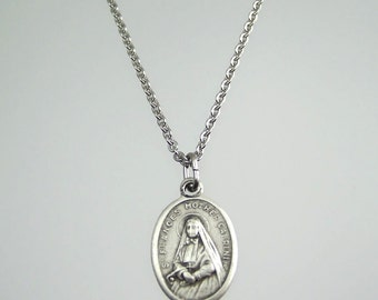 Saint Frances Mother Cabrini Saint Francis Medal Necklace