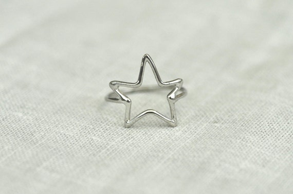 SALE - Sizes 5, 6, 7 and 8 - Sterling Silver STAR Ring, Ready to Ship