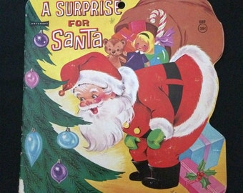 Vtg 1967 Children's Book - A Surprise For Santa