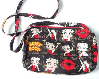 Betty Boop, or Popey Comic Strip Quilted Purse,Quilted Inside/Out,,Inside Key Clip,Coin Purse Handcrafted Your Choice