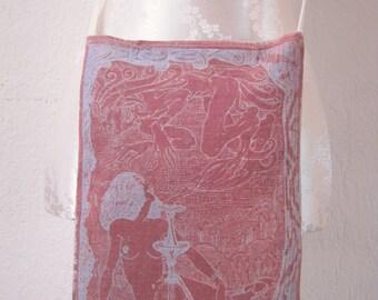 Hand dyed with Lumi Inkodye - Hookah Goddess pouche OOAK