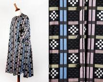 Vintage Mod Dress || Awesome Fabric! || House Coat