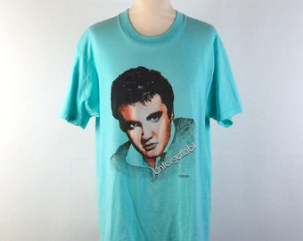 Authentic Elvis Presley Tee, Screen Stars, Size Large