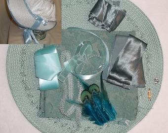 Bonnet Kit- DIY- Seafoam- Regency, Georgian, Jane Austen Era Bonnet