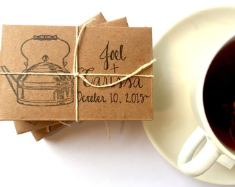Tea wedding favors // rustic wedding gifts // custom // organic // eco-friendly // unique ...set of 20