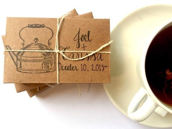 Tea wedding favors // rustic winter wedding gifts // custom // organic ...