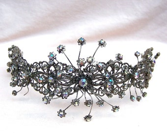 Vintage Tiara Headdress Headpiece  Indonesia Sumatra tribal fusion belly dance