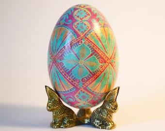 Gift for Wife first mother's dat Mom Sister Goose Egg Pysanka Ukrainian Easter egg Christmas egg ornament