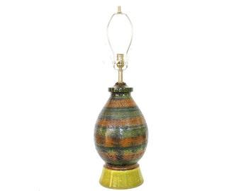 Bitossi Mid-Century Modern Italian Pottery Lamp