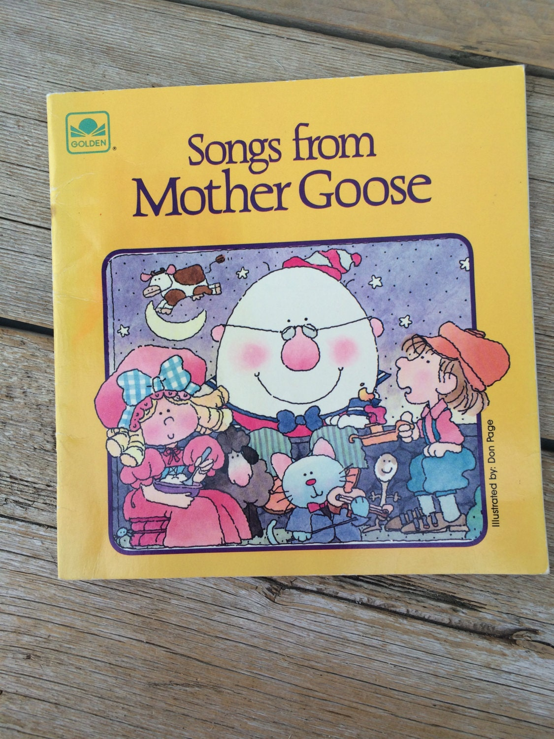 vintage 1986 golden book songs from mother goose