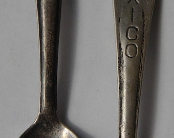 Two Sterling Souvenir Spoons Mexico