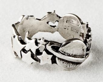 Celestial Sterling Silver Ring Sz 6
