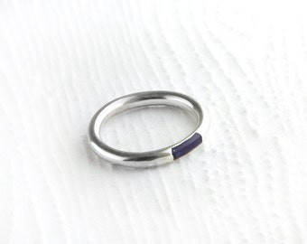 Simplistic Lapis Sterling Silver Ring