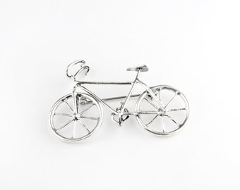 Bicycle Sterling Silver Pin