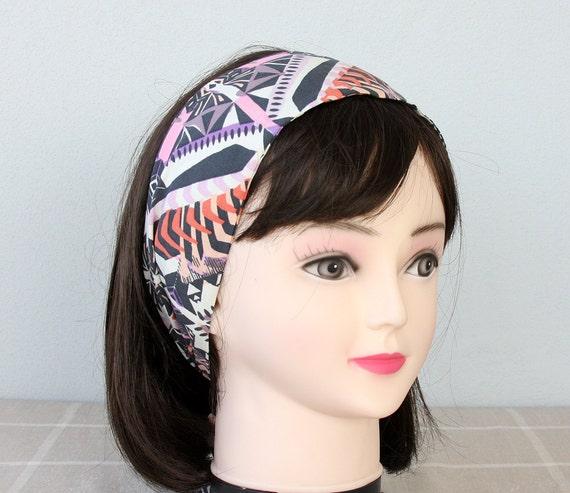Tribal headband aztec headband african print headband adult headband woman top knot headband boho clothing geometric headband tribal pattern