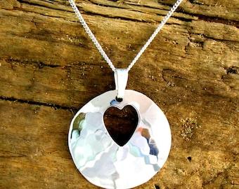 Handmade Silver Heart Pendant