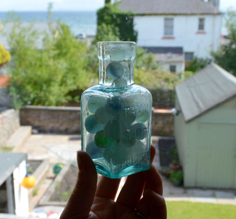 25 Sea Marbles Old Dug Bottle Huge Collection Tavu Boot