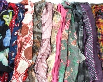 13 Vintage Scarf Collection // 1940s 50s 60s 70s // 13 Scarf Bulk Lot // Aristocratic #J1