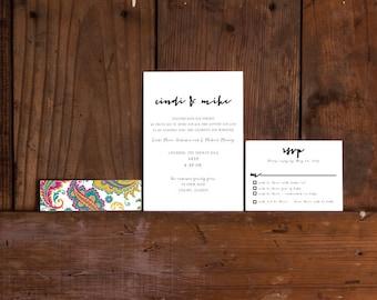 Handwritten Urban Calligraphy Wedding Invitation,Urban Calligraphy Invitations,Modern Calligraphy Wedding Invites,Modern Handwritten Invite
