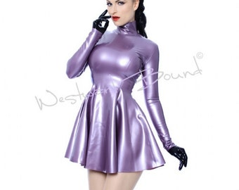 Long latex dress – Etsy