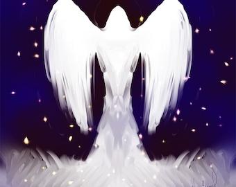 Angel # 461 -Digital Download  Print yourself JPEG File - Angels  Archangels Guardian Angel