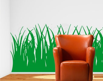 Tall GRASS WALL DECALS vinyl stickers - 35 inches tall - Interior decor - Nursery decorating