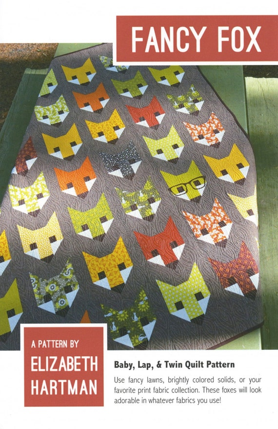 Fancy Fox Quilt Paper Pattern by Elizabeth Hartman of Oh, Fransson