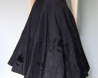 1970s Oscar De La Renta Boutique Silk Dress