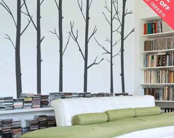 Winter Tree Decal - Wall Decal - Vinyl Wall Sticker - Nature Wall Art - 0031