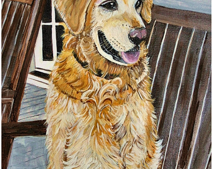 Golden Retriever Print Poster