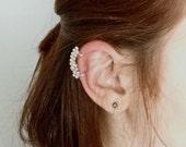 Granule Ear Cuff in Argentium Silver- 935- Handcrafted Artisan Silver Ear Cuff- Granulation