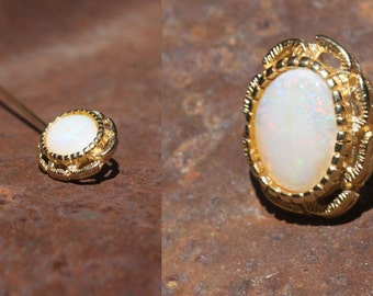Opal Pin for Hat, Scarf or Lapel