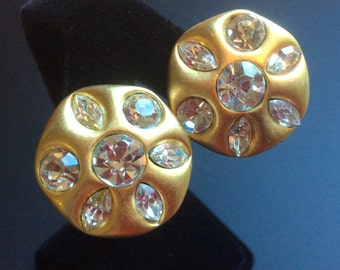Givenchy Gold and Crystal Earrings