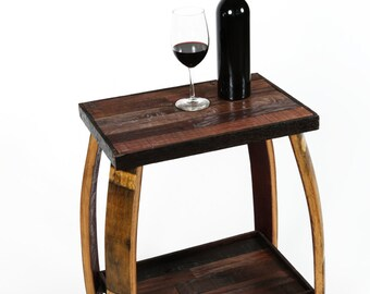 "NAPA - ""Kulviski"" - Wine Barrel Nightstand - 100% recycled"