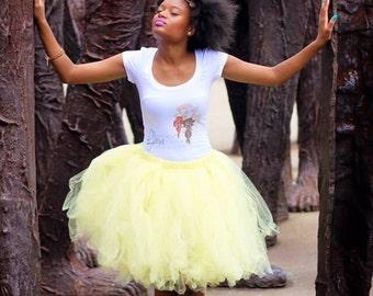 Adult Tutu - pale yellow tutu -  Woman tutu - Ladies Tutu - Teen Tutu  - tutu skirt - tulle skirt - SEWN tutu - Bridesmaid Tutu - Ballet Ski
